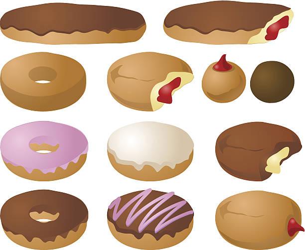 donut illustrationen - vanillesauce stock-grafiken, -clipart, -cartoons und -symbole