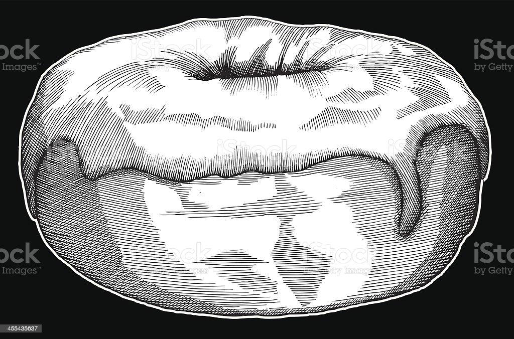 Donut Ink Drawing vector art illustration
