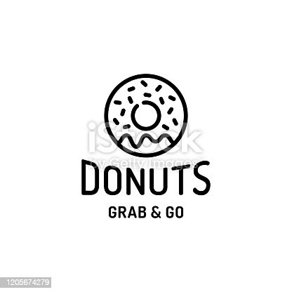 istock Donut Logo Design Template 1205674279