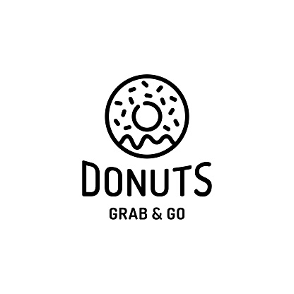 Donut Logo Design Template