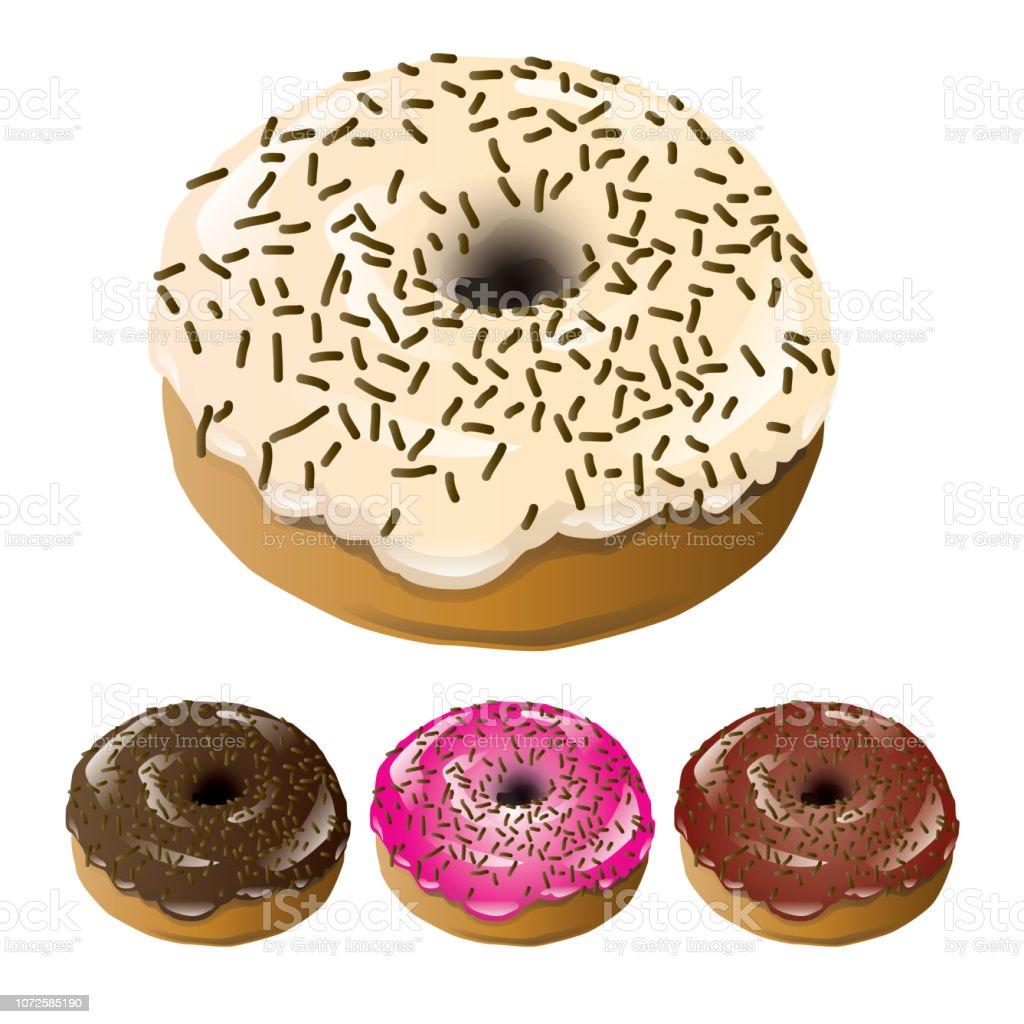 donut vector art illustration