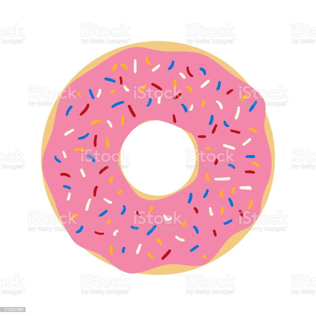 Donut vector. vector art illustration