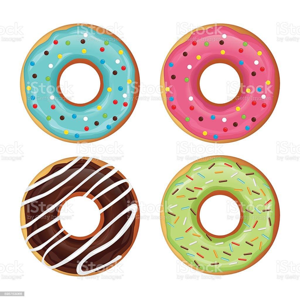 donut vector vector art illustration
