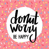 Donut Worry Be Happy Funny Greeting Card