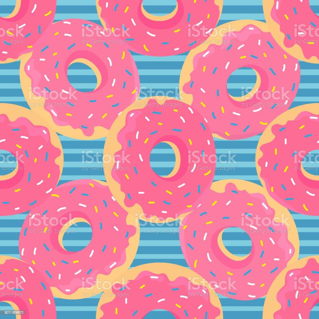 donut_pattern vector art illustration