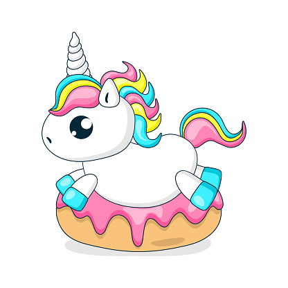 Donuts and a cute little unicorn