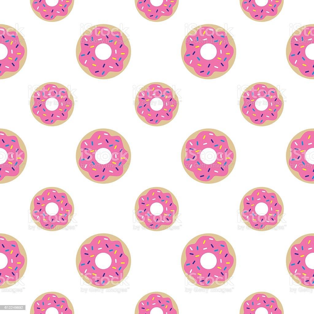 Donuts Seamless Pattern vector art illustration