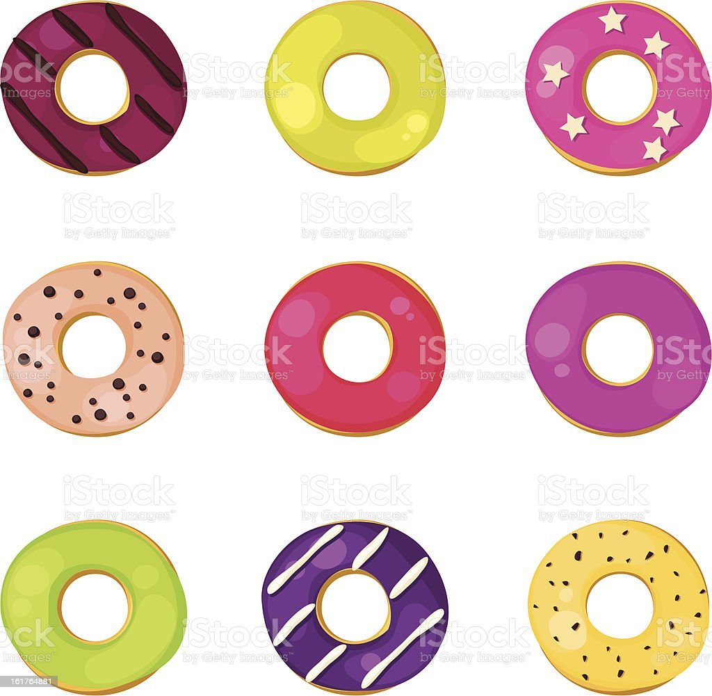 Donuts set royalty-free donuts set stock vector art & more images of baked