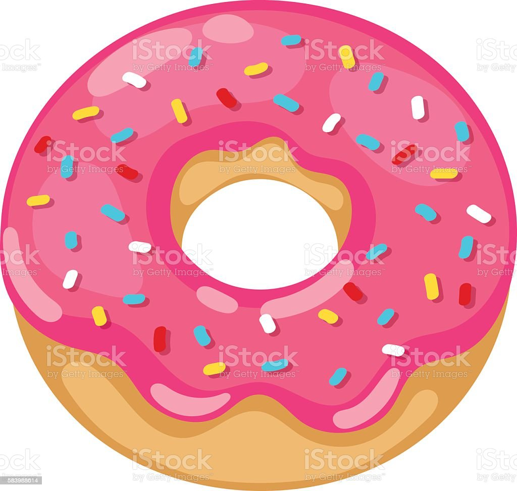 royalty free pink donut clip art vector images illustrations istock rh istockphoto com donut clipart cute donut clipart cute