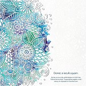Doodle 3D White Paper Pattern With Circle Shape.