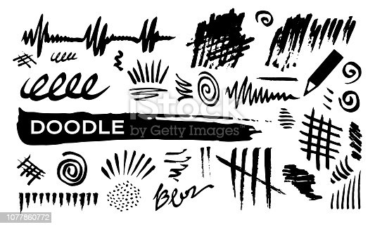 Doodle abstract drawing lines.