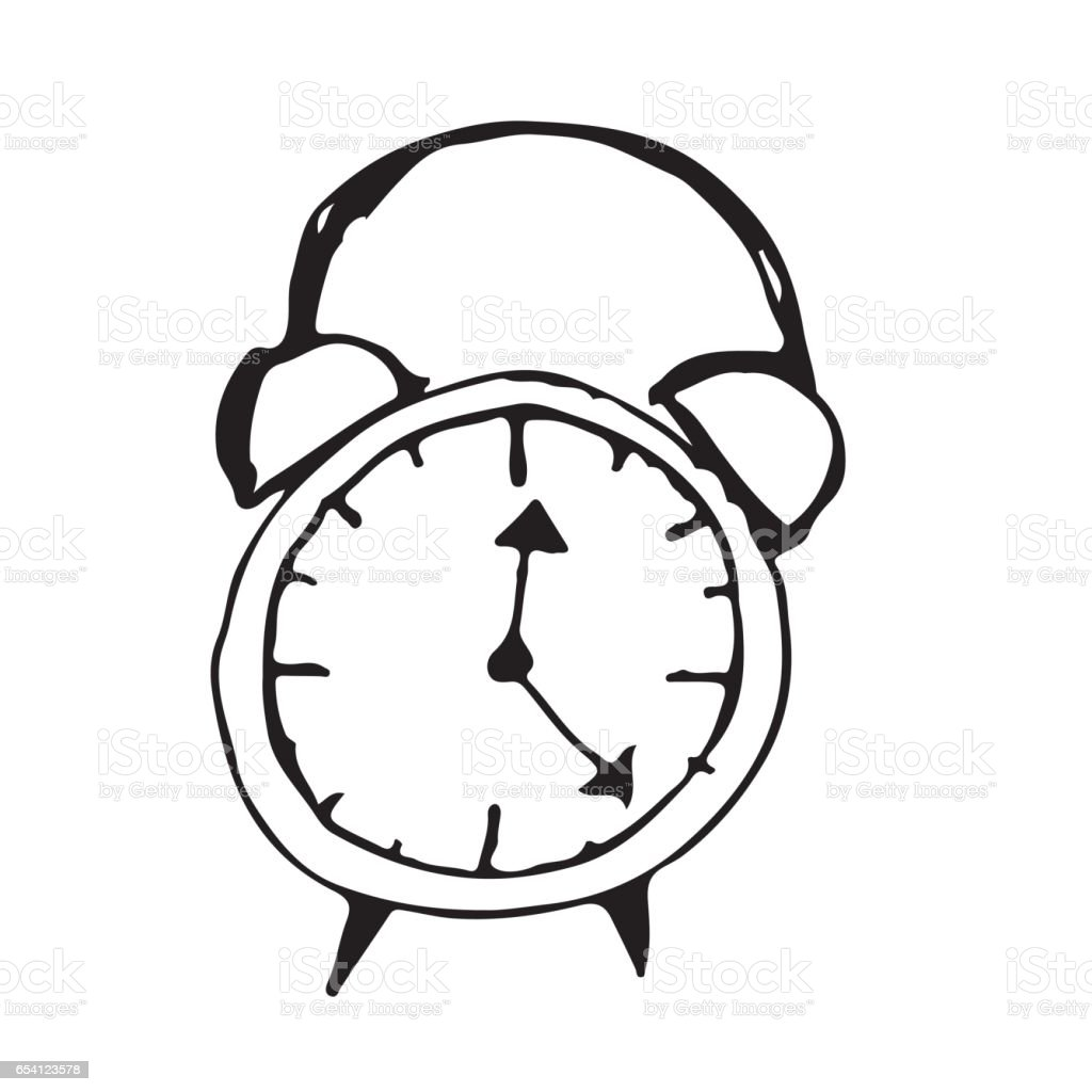 doodle alarm clock icon hand draw illustration design stock vector art  u0026 more images of alarm
