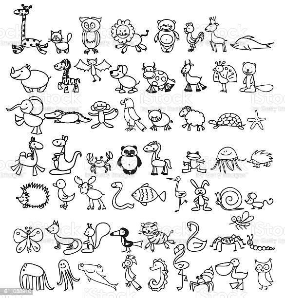 Doodle animals vector id611088910?b=1&k=6&m=611088910&s=612x612&h=q1ihppxjikq4wmpsvc3c5pw0awzzqtmn98vpbgt61tw=
