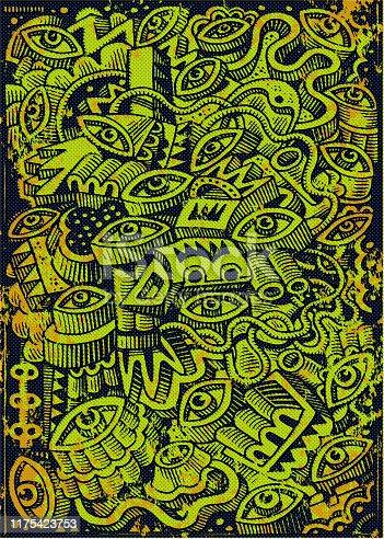 istock Doodle background grunge illustration 1175423753