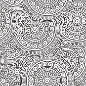 Doodle background in vector with doodles, flowers and paisley.