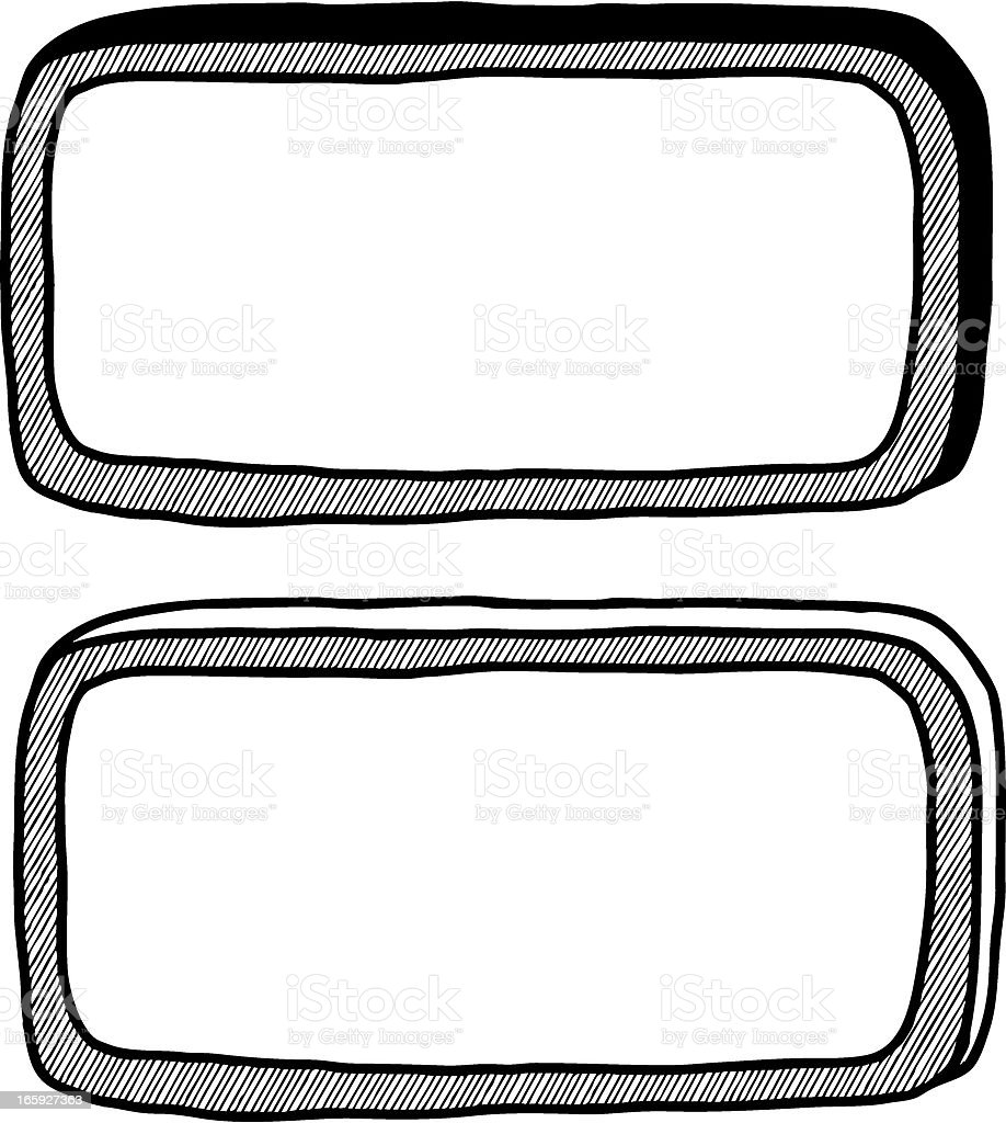 Doodle Banner Frames Stock Vector Art & More Images of Black And ...