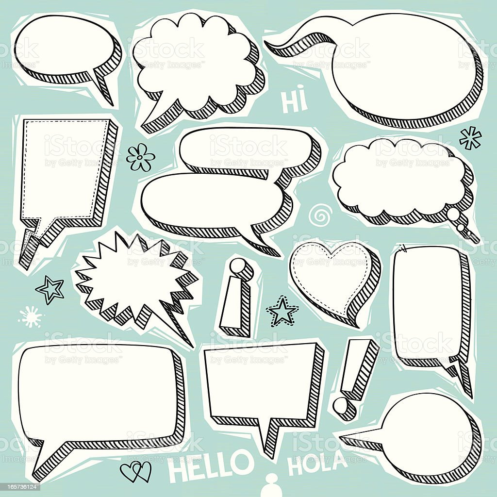 Doodle banners vector art illustration