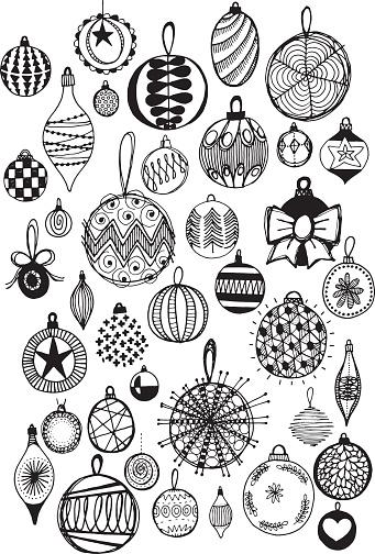 Doodle baubles