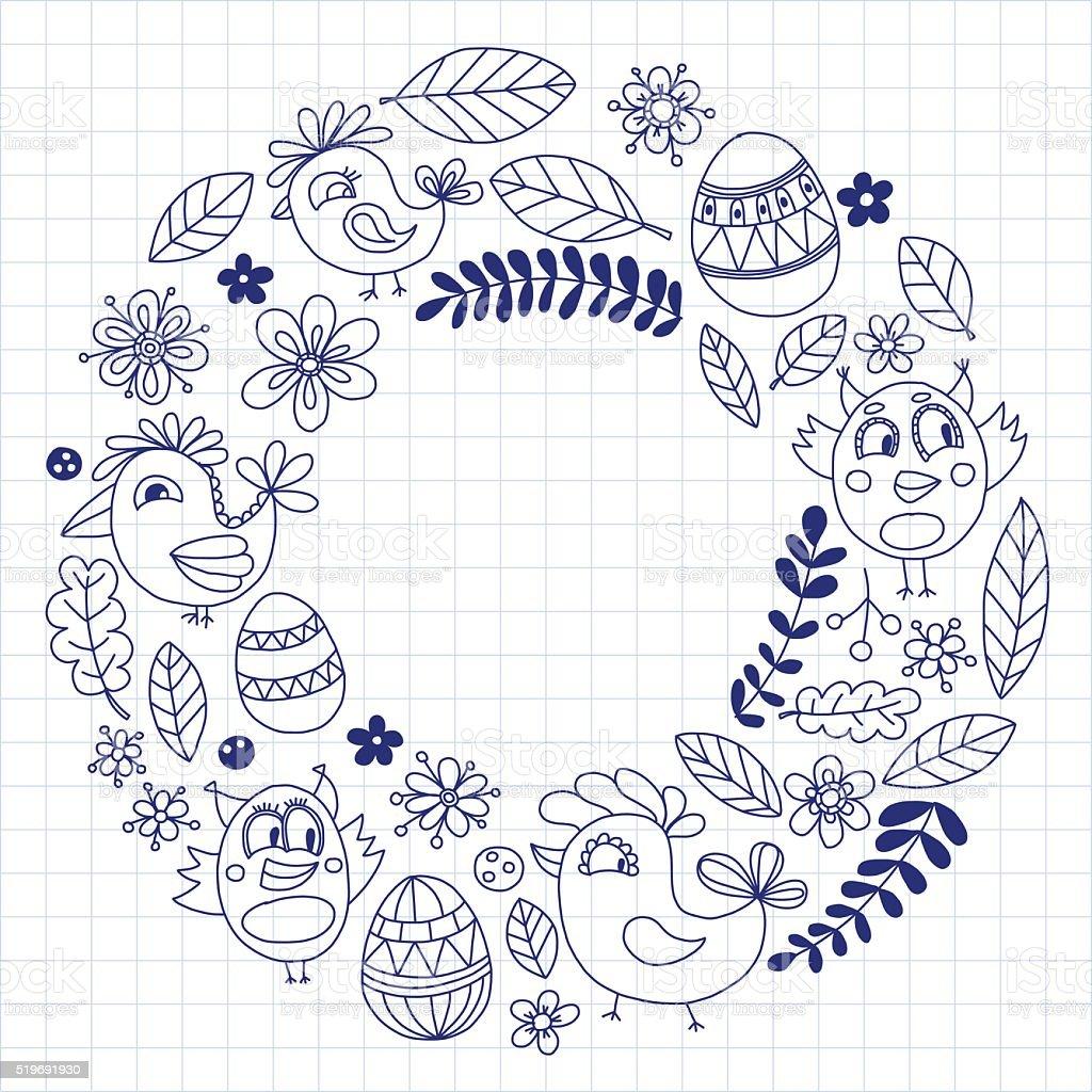 doodle birds kids drawing style stock vector art 519691930 istock