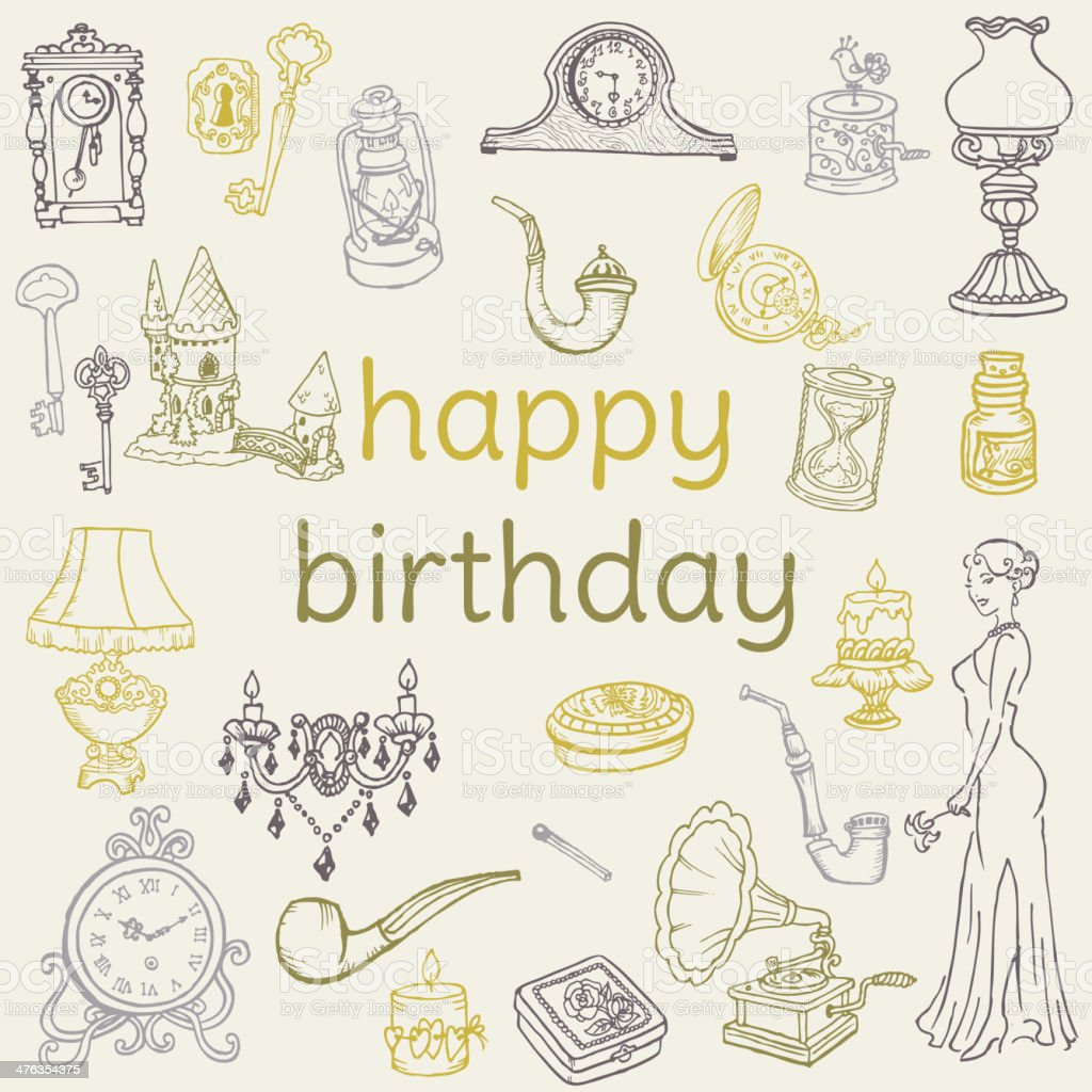 Doodle Birthday Icons royalty-free doodle birthday icons stock vector art & more images of birthday