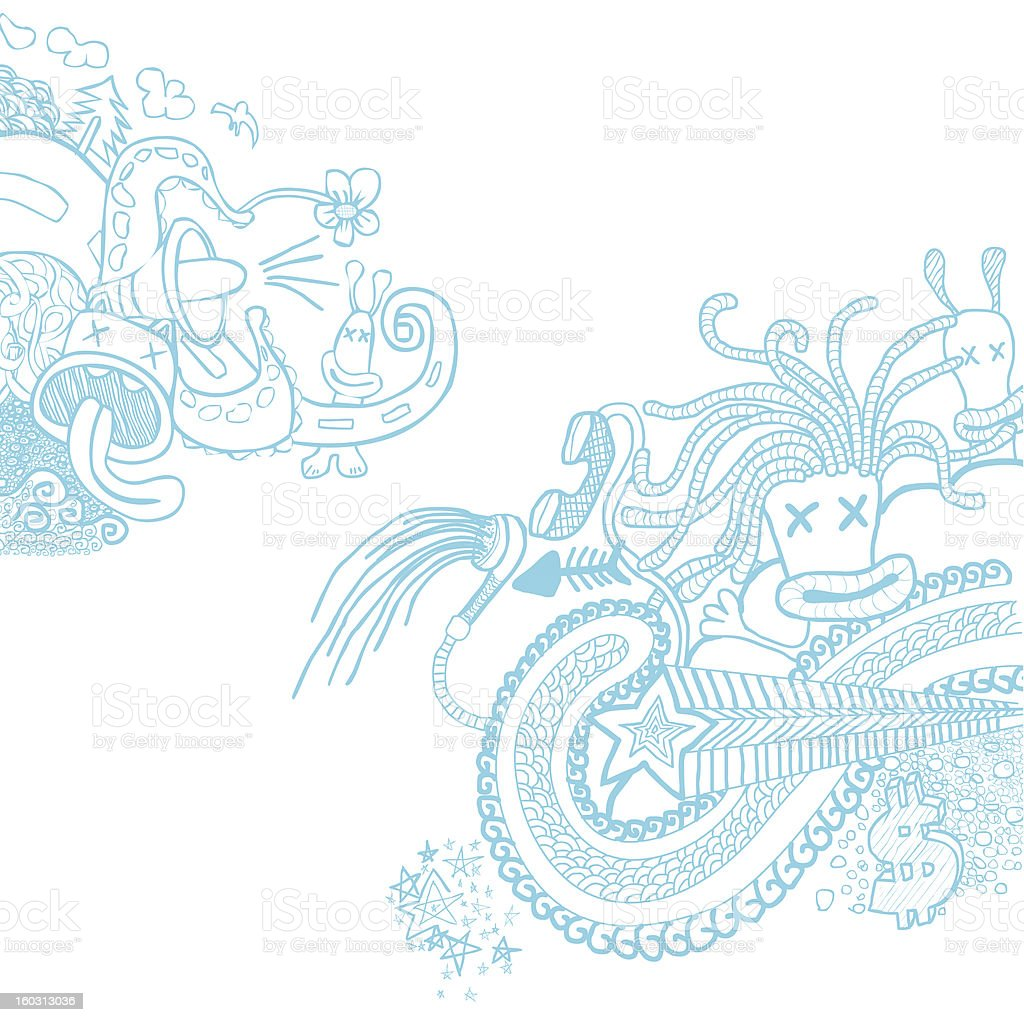 Doodle Blue royalty-free doodle blue stock vector art & more images of abstract