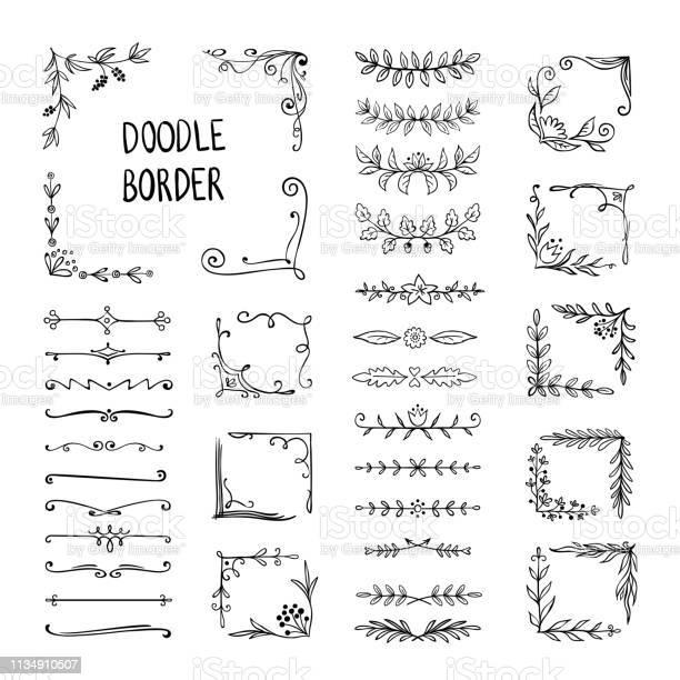 Doodle border flower ornament frame hand drawn decorative corner vector id1134910507?b=1&k=6&m=1134910507&s=612x612&h=r27h 7ckzdrkfgze2z 4b o3elospiuerjs 8x6zcau=