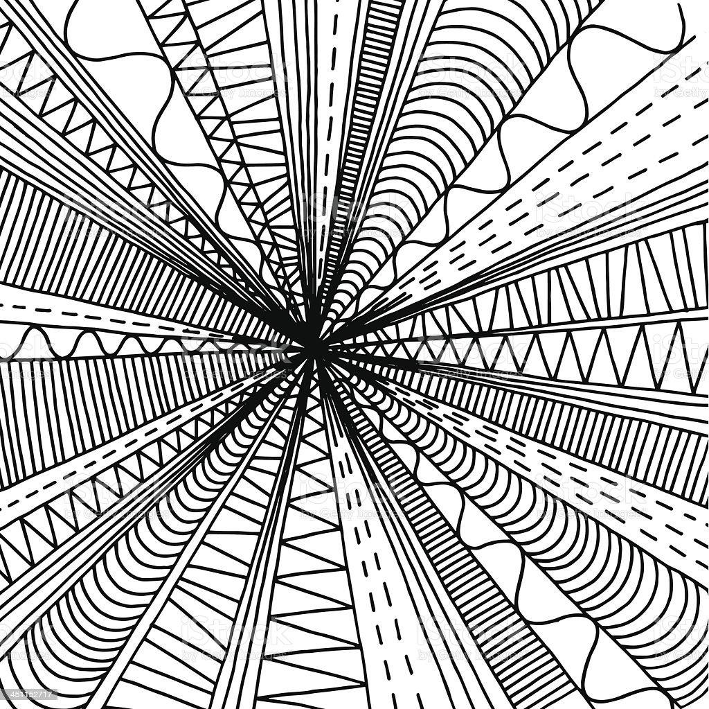 Doodle Burst royalty-free stock vector art
