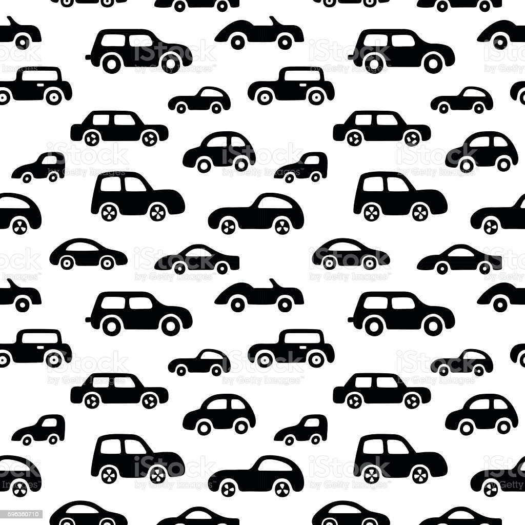 Doodle cars background. Seamless baby boy pattern in vector. royalty-free doodle cars background seamless baby boy pattern in vector stock vector art & more images of abstract