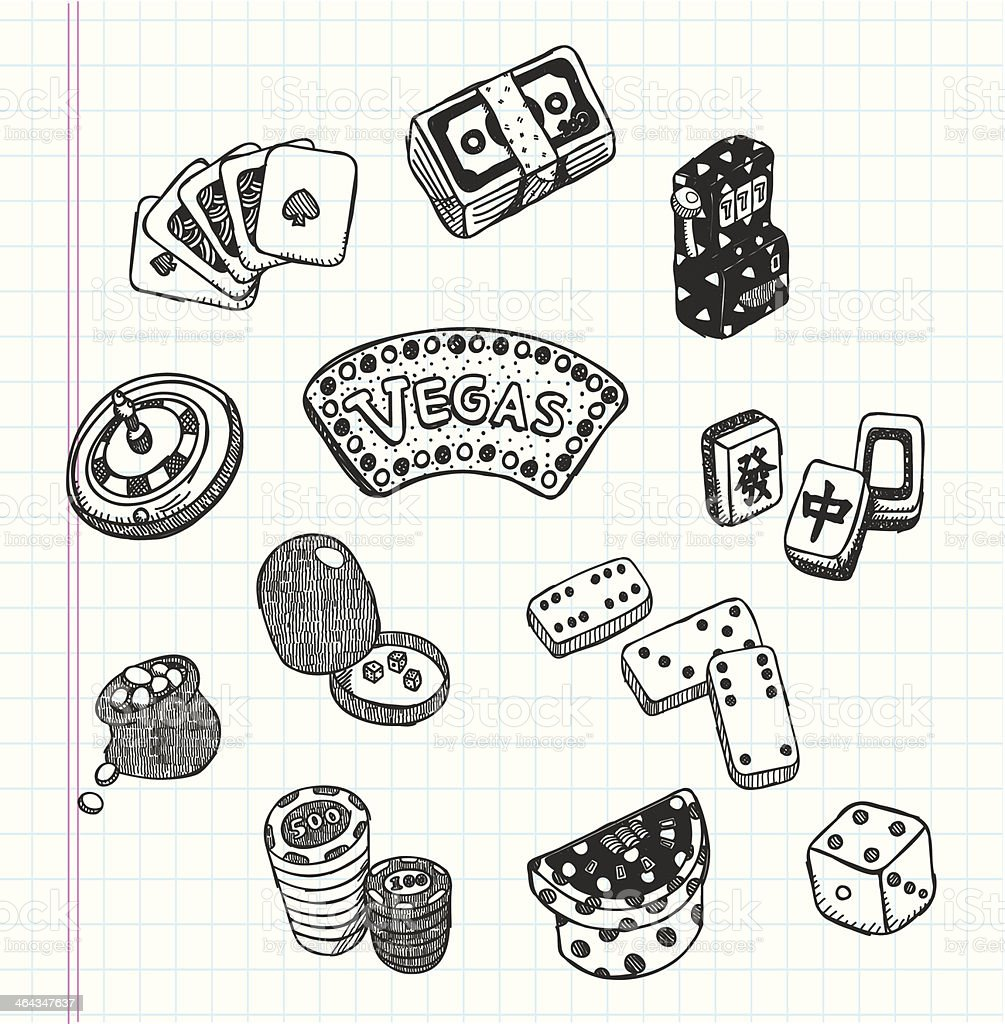 doodle casino icons royalty-free doodle casino icons stock vector art & more images of ace