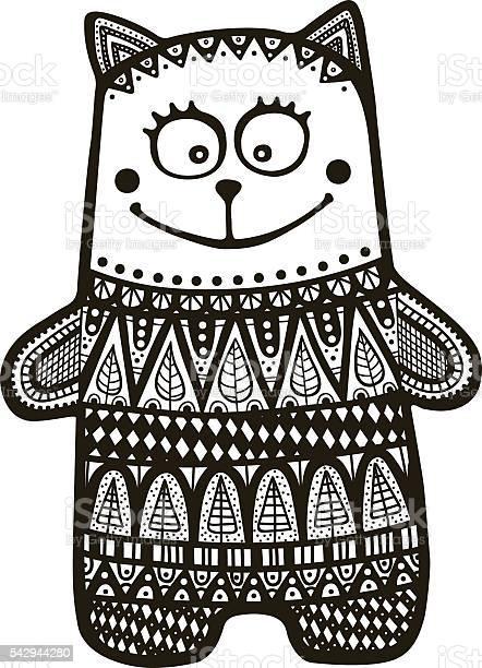 Doodle cat indian vector id542944280?b=1&k=6&m=542944280&s=612x612&h=uxbqr9v74wnkvoyoadxtznzmuvhrsyxufancofkoxew=