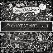 Doodle Christmas season icons
