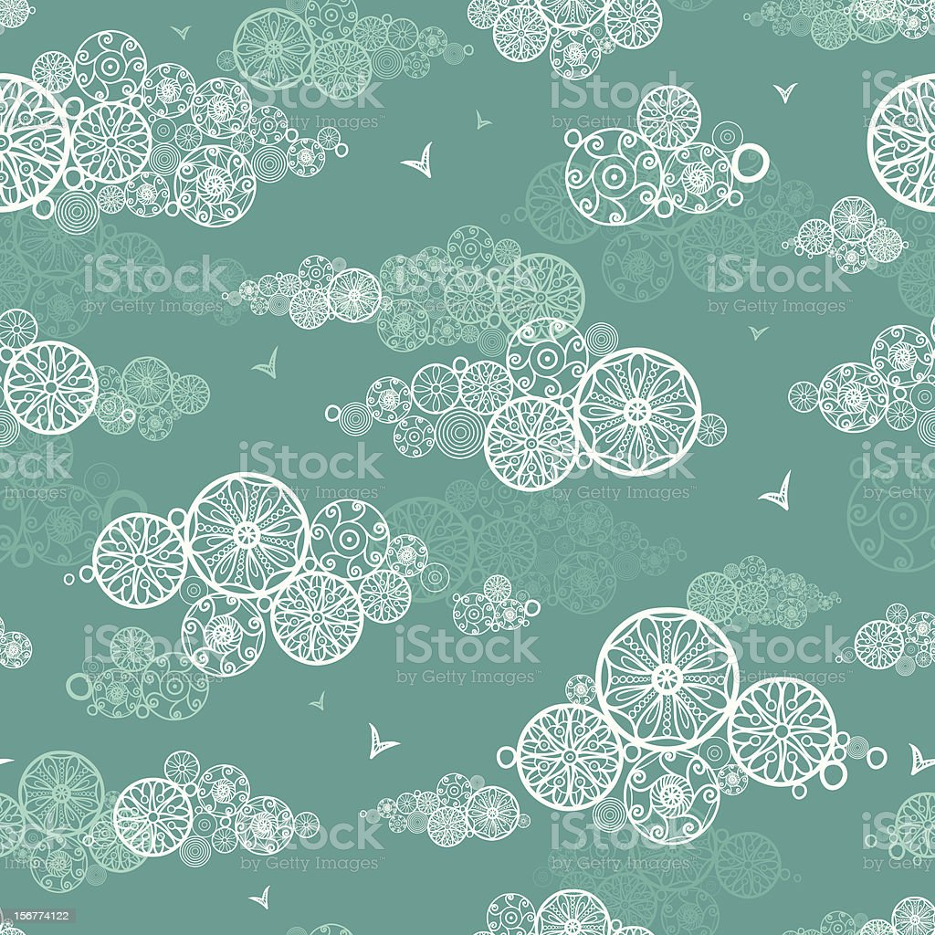 Doodle Clouds Seamless Pattern Background royalty-free stock vector art