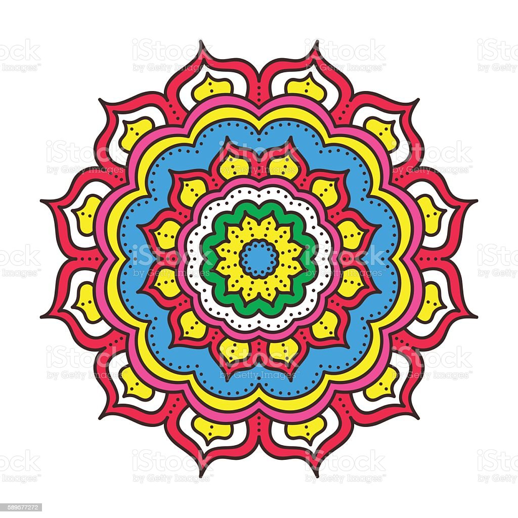 Doodle Color Mandala Stock Vector Art More Images of Abstract