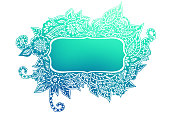 Doodle colored frame