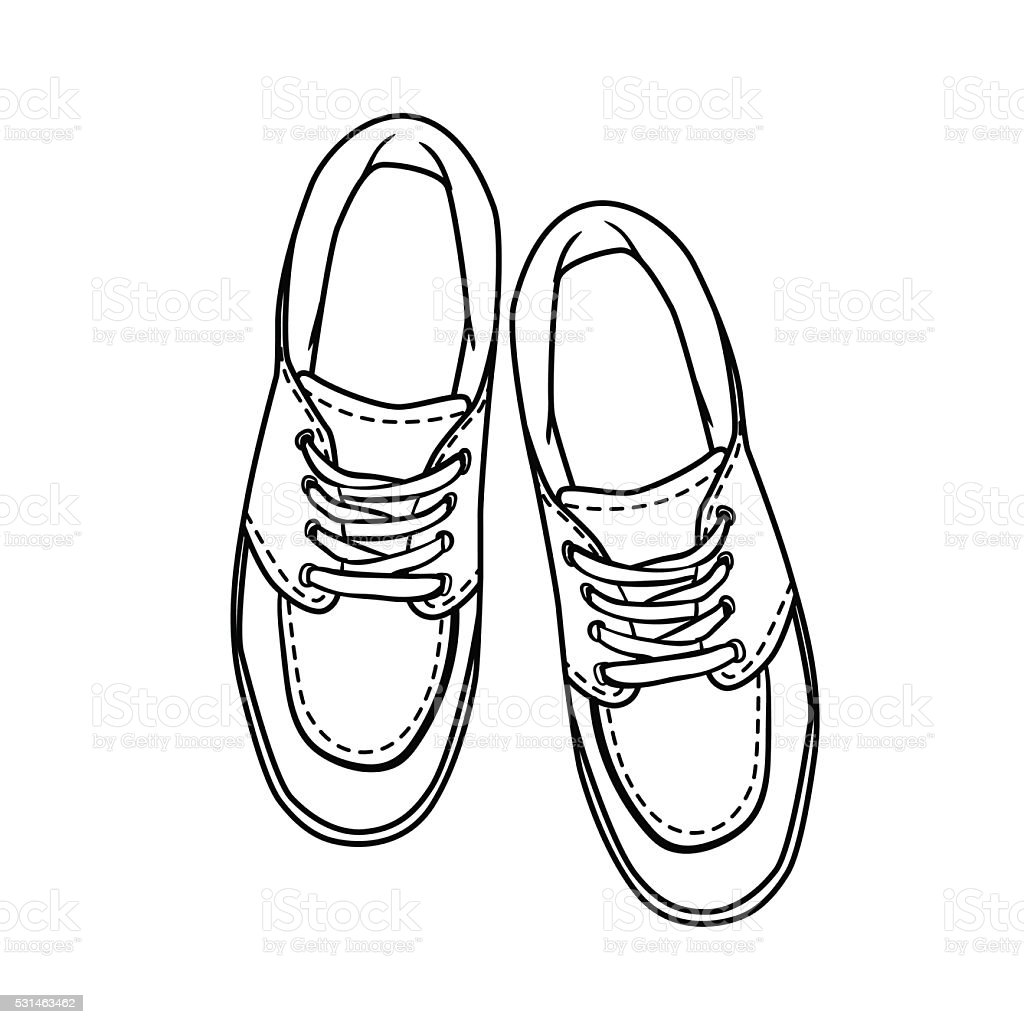 Drawing On White Shoes