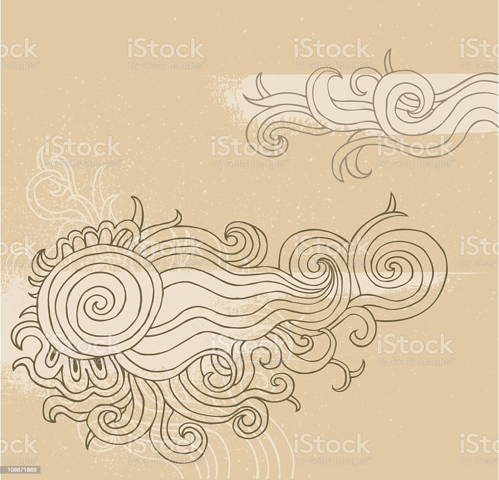 Doodle  curls royalty-free stock vector art