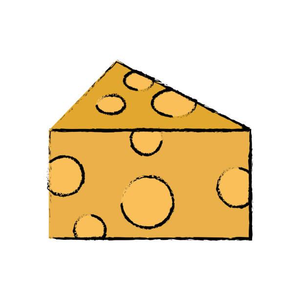 nutrición de alimento fresco y delicioso queso Doodle - ilustración de arte vectorial