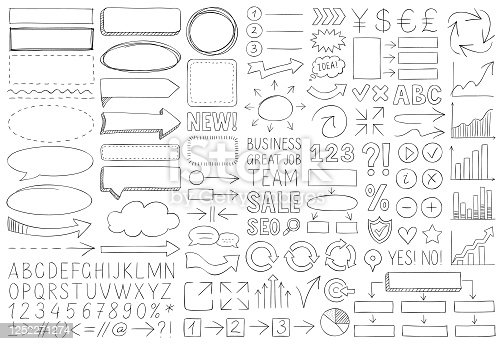 istock Doodle design elements 1252271274
