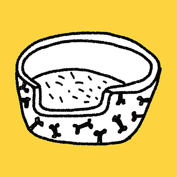 gekritzel hund - - hundebetten stock-grafiken, -clipart, -cartoons und -symbole