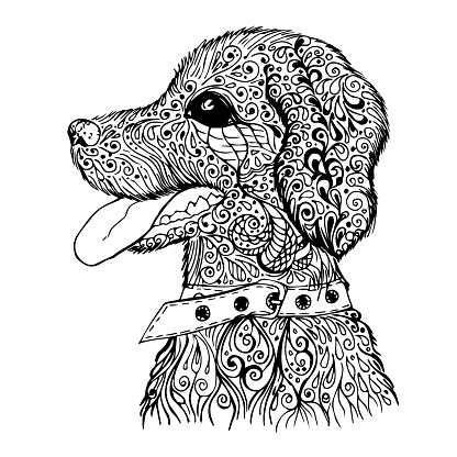 Doodle dog pattern
