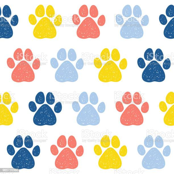 Doodle dog paw seamless pattern background vector id985720360?b=1&k=6&m=985720360&s=612x612&h=s1chlsx2bt3i787pc y9r2elcvdmzhvrsasvwakhnsu=