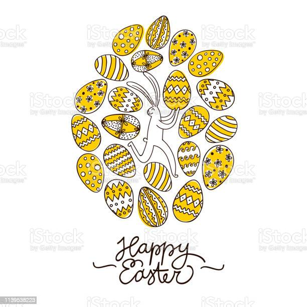 Doodle easter illustration with eggs and cute rabbit vector id1139538223?b=1&k=6&m=1139538223&s=612x612&h=ny0vihigg euio74my593lai2dpc6fdkyukn h8yhmm=