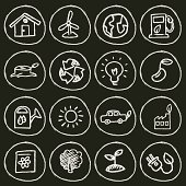 Vector File of Doodle Ecology Icon Set