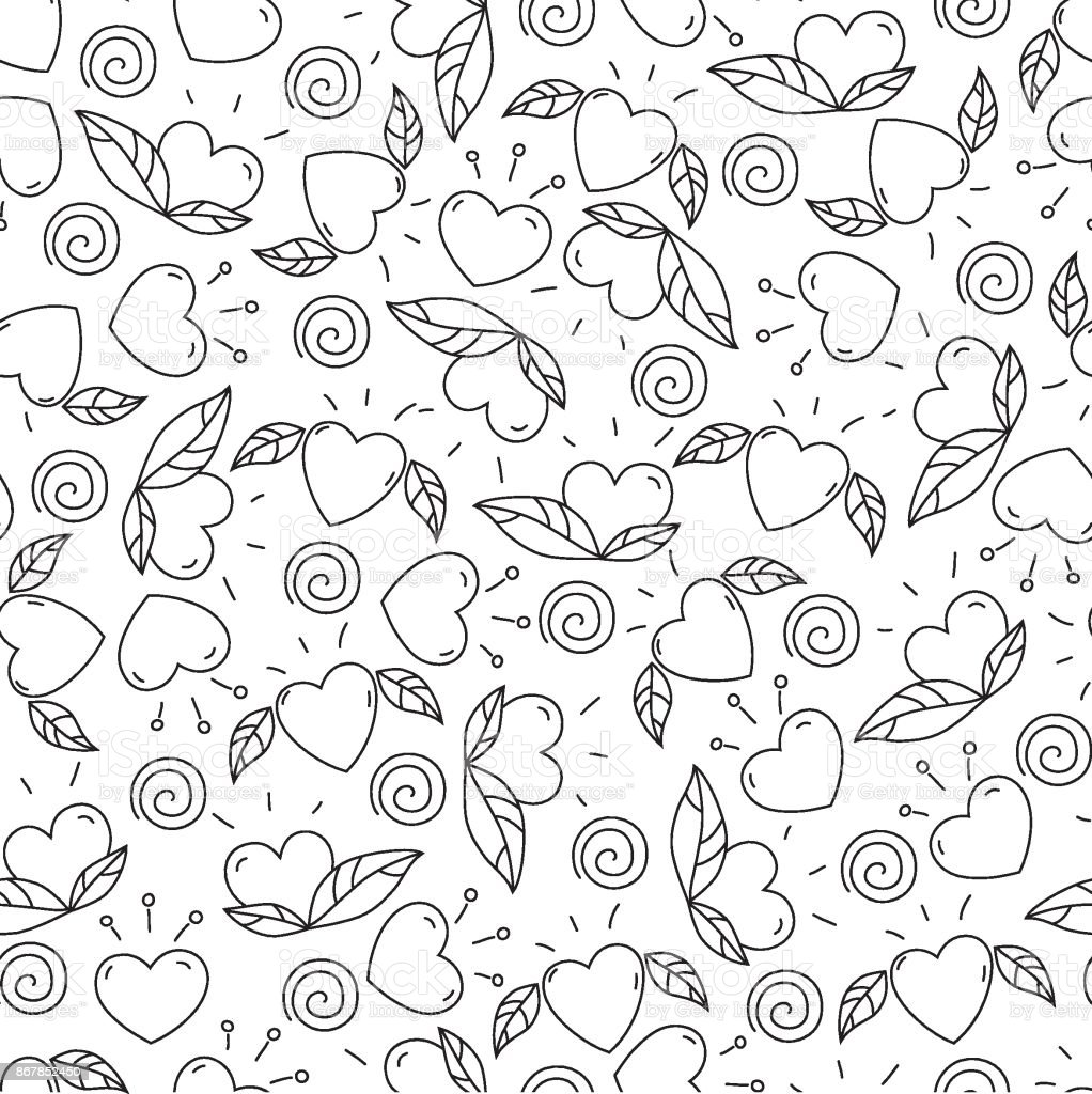 Elementos Doodle Para El Día De San Valentín Corazones Y ...