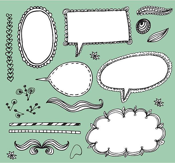 doodle Elemente – Vektorgrafik