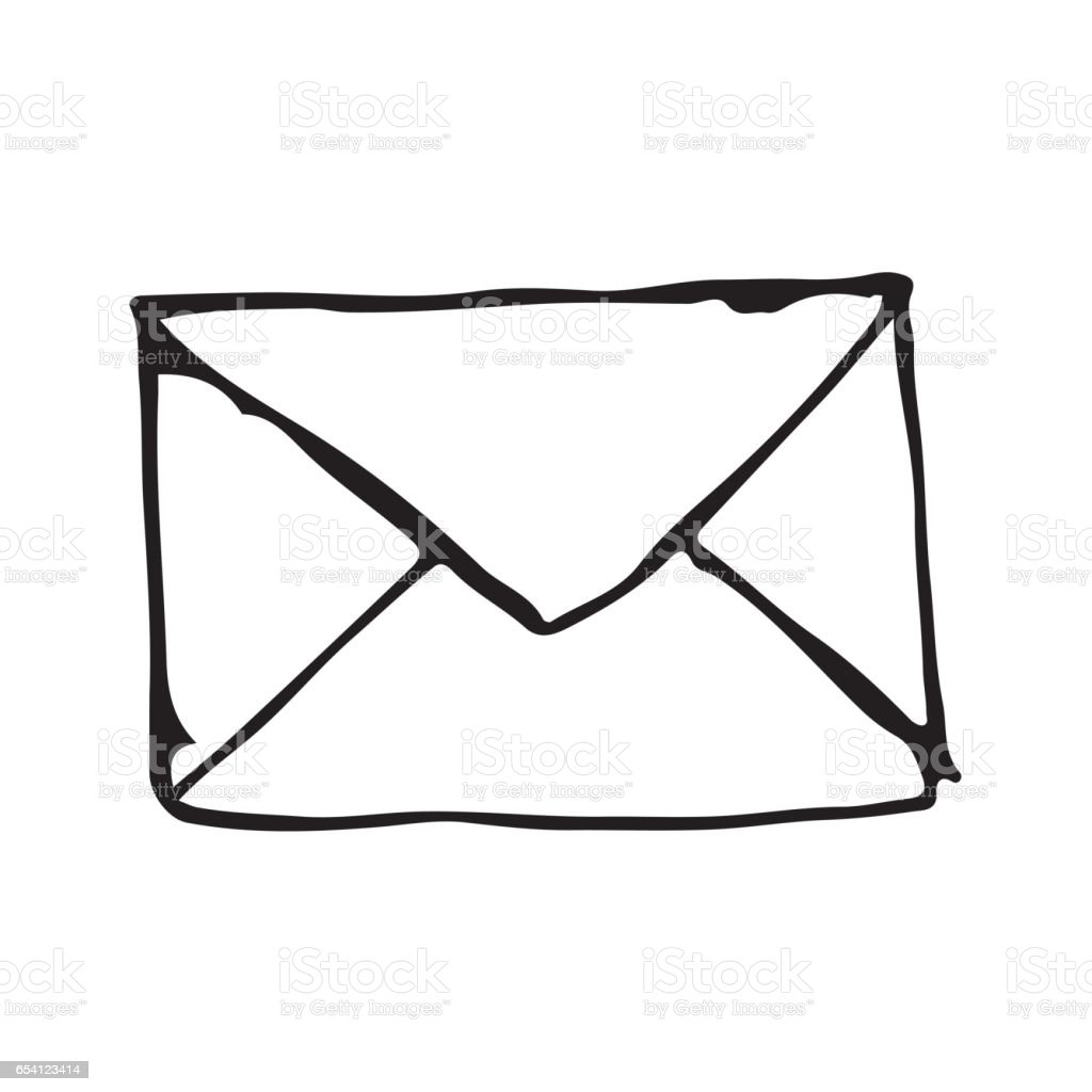 Emailadresse Symbol Zeichnung Illustration Design Doodle Stock