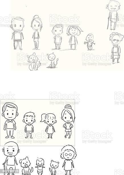 Doodle family vector id507793123?b=1&k=6&m=507793123&s=612x612&h= tcfff2gbvmqntycedsezmlakhirg9akoh6d8bm 1re=