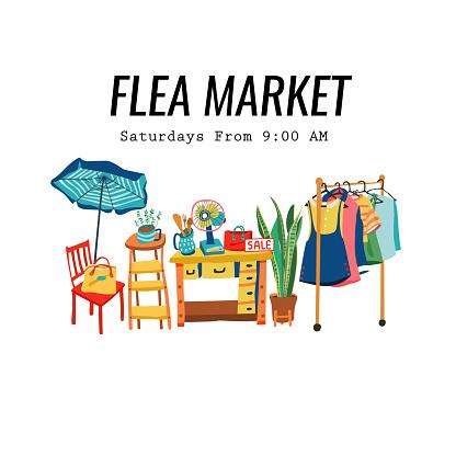 Doodle flea market poster 2