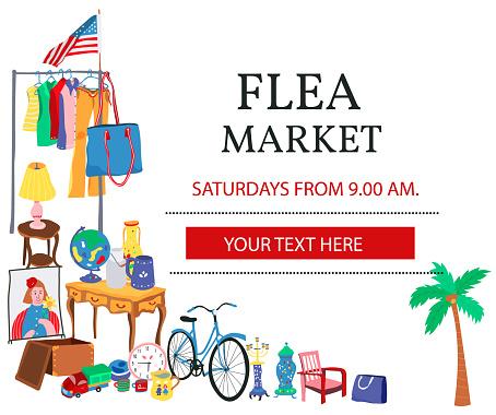 Doodle flea market poster