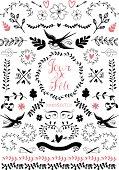 Doodle floral element